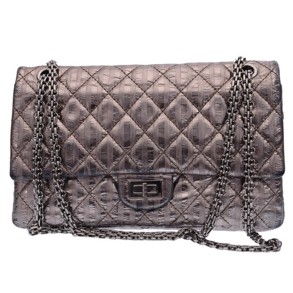 2.55 Reissue Metallic 226 Flap Gunmetal Shoulder Bag