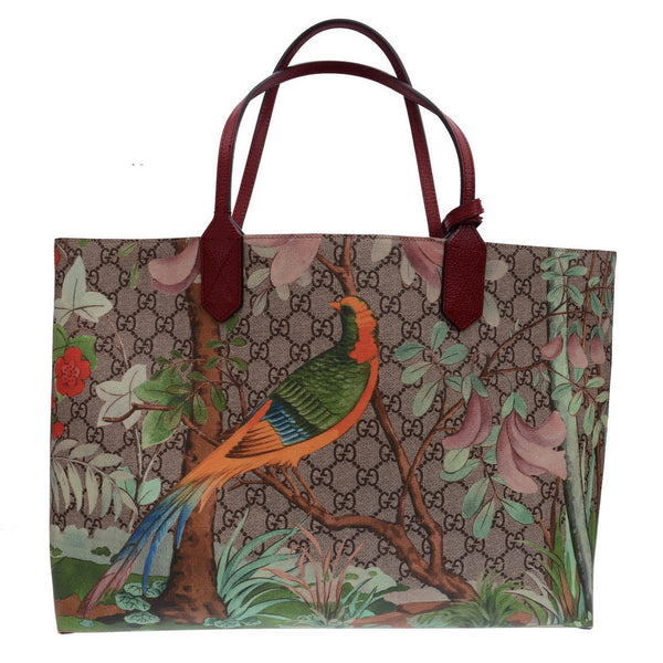 df5b3a915 Red & Beige GG Supreme Tian Coated Canvas Tote Bag – PrePorter Luxury