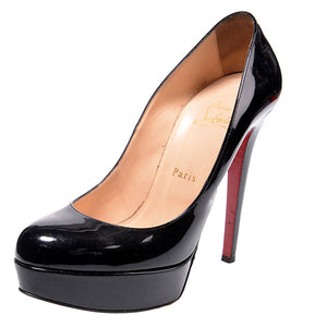 Bianca Black Patent Leather Pumps