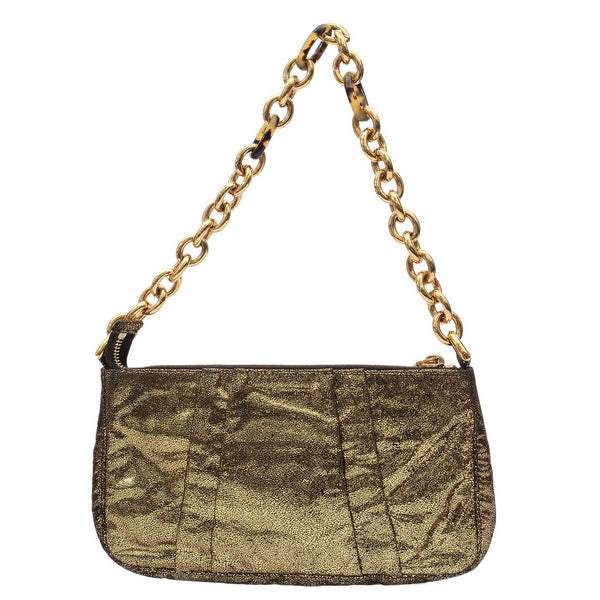 Gold Shimmer Hand Bag Pouch