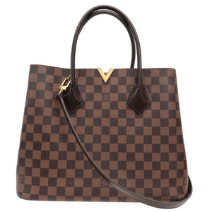 Kensington Damier Ebene Brown Leather Tote