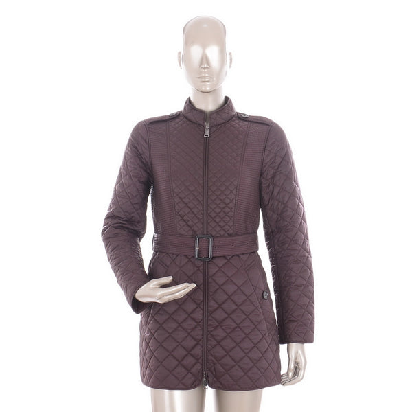 Fig Purple Puffer Quilted Coat