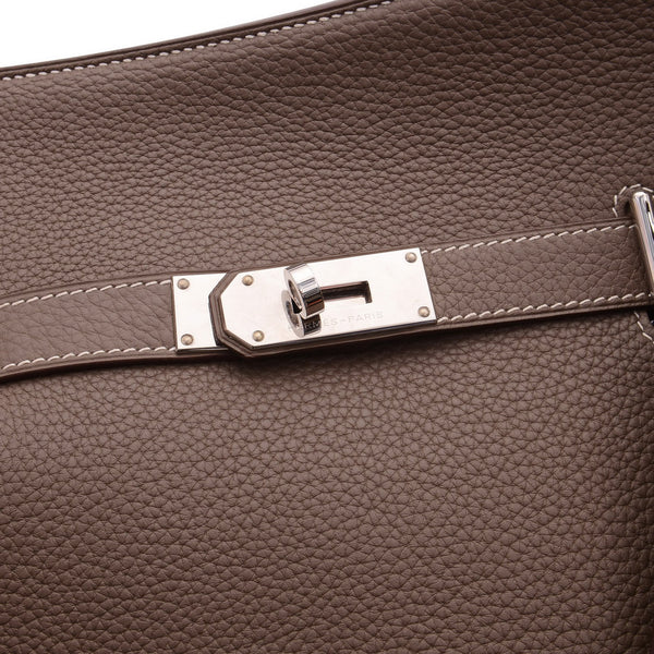 Jypsiere 31 Clemence Etoupe Leather Crossbody Bag
