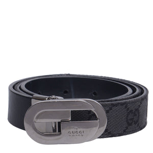 Monogram Leather Slim Belt
