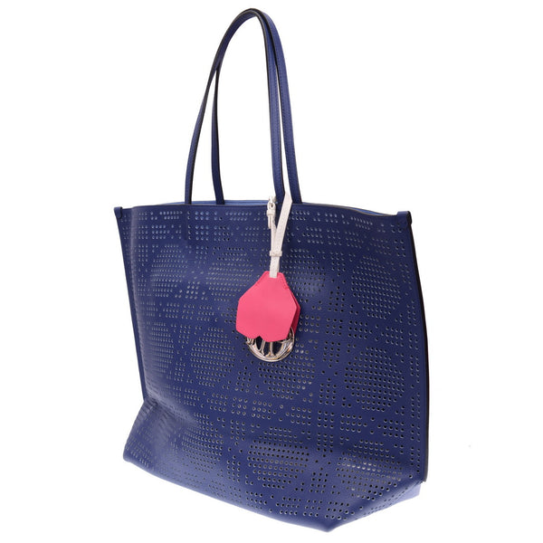 Dioriva Perforated Pink Leather Tote