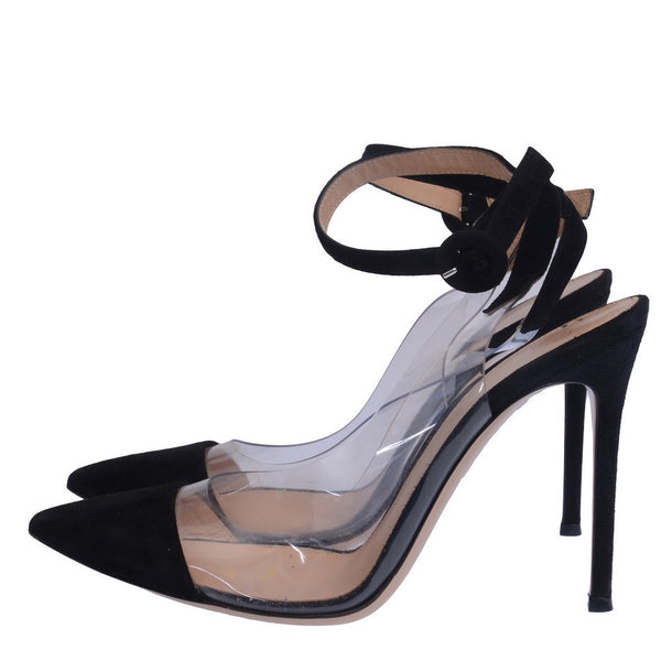 Anise Black Suede Court Pumps