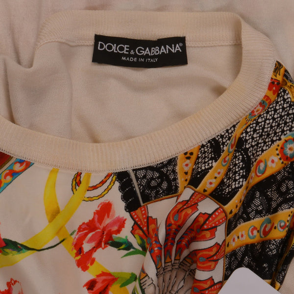 White Canvas Patterned Jumper