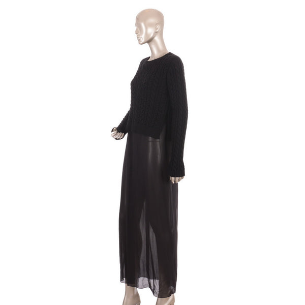 Black Wool Jumper Maxi
