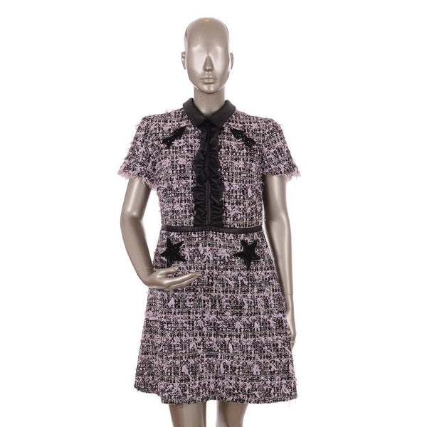 Tweed Black & Purple Dress