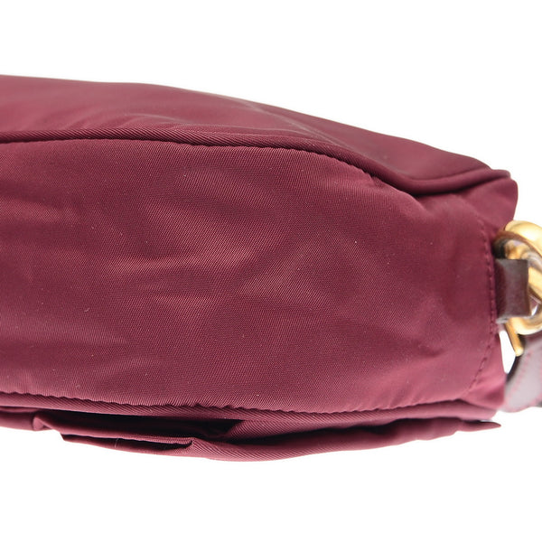 Purple Tessuto Nylon Bow Crossbody