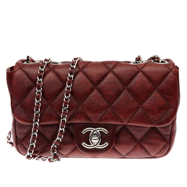 Red Brick Aged Squared Small Shoulder Bag