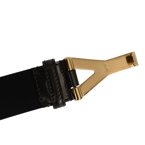Y Grey Patent Belt