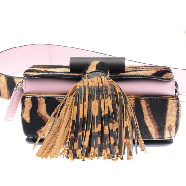 Tiger Pony Hair Tassel Crossbody Bag