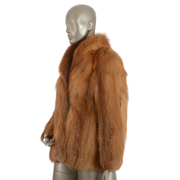 Copper Fox Fur Jacket