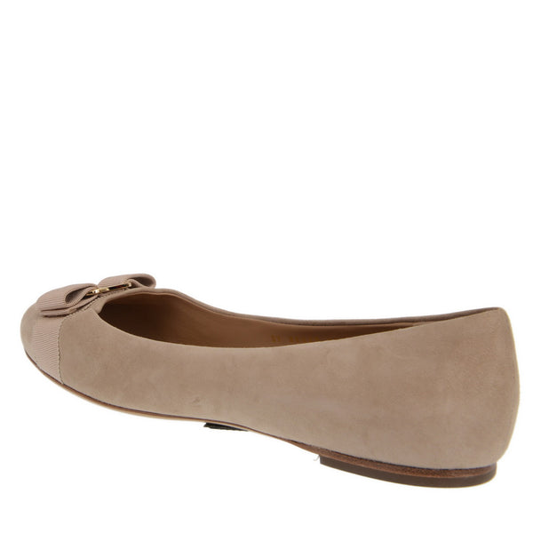Suede Bow Ballet Flats