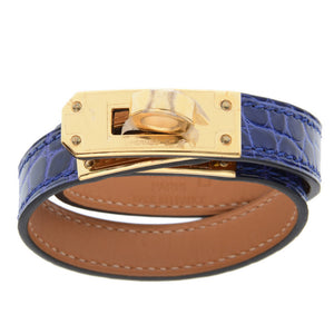 Kelly Double Tour Blue Alligator Bracelet
