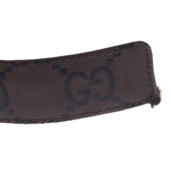 Brown Monogram Nylon Belt