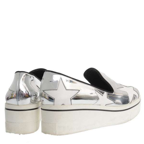 Metallic Silver Flatforms