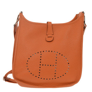 Orange Evelyne III PM Togo Shoulder Bag