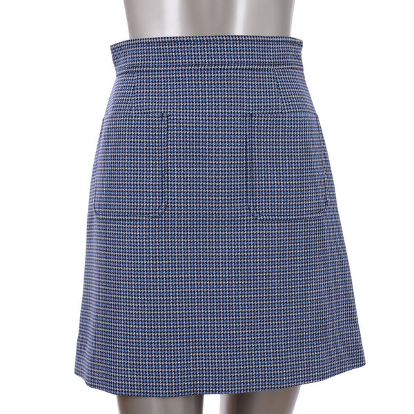 Patterned Blue Skirt