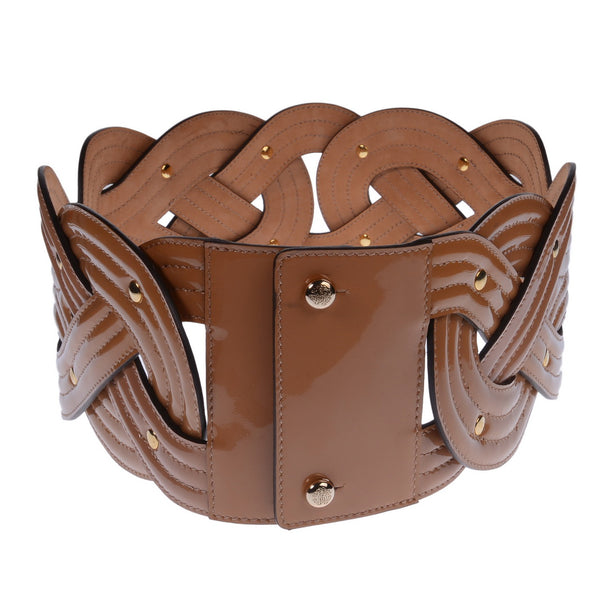 Beige Braided Waist Belt Band