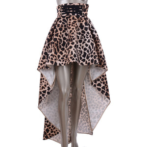 Leopard Print Fish Tail Skirt