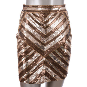 Gold Sequins Skirt