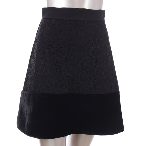 Lace Black Skirt With Velvet