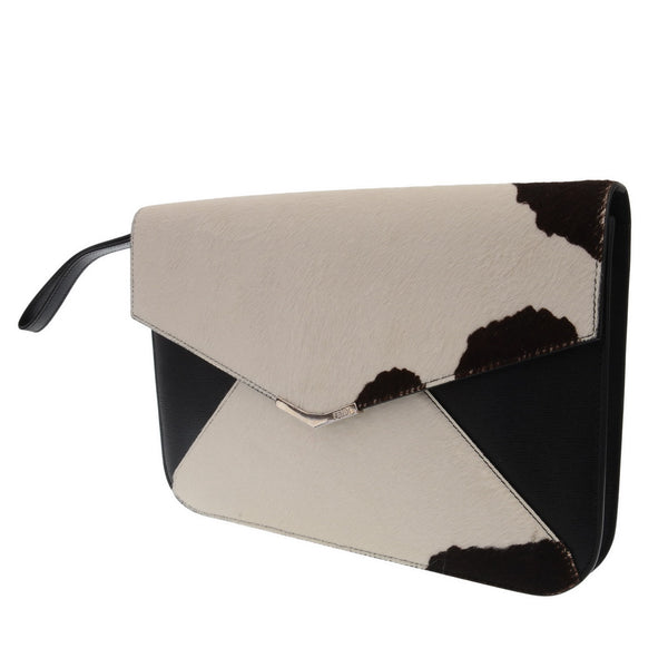 Multicolor Calf Hair And Leather 2Jours Envelope Clutch
