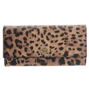 Leopard Canvas Sicily Wallet