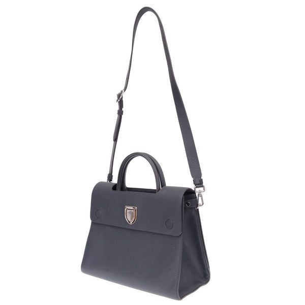 Grey Caviar Calfskin Leather Medium Diorever Flap Bag