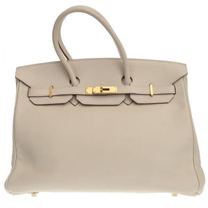 Birkin 35cm Cream White Swift Leather