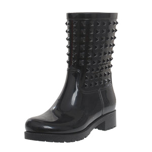 Black Rubber 25MM Rain Boots