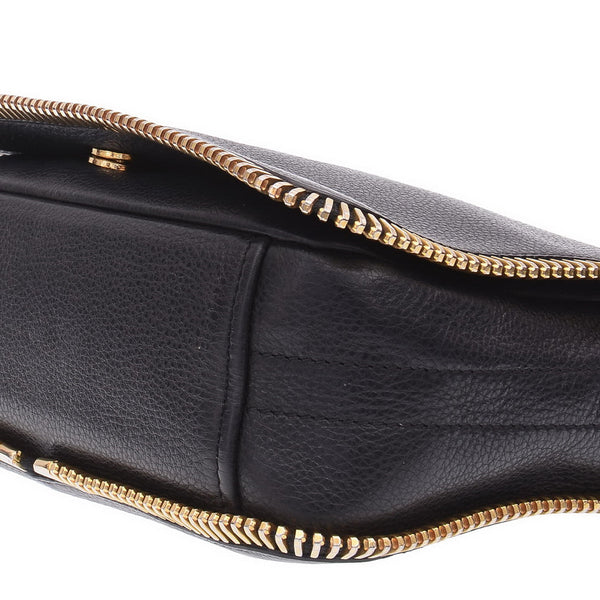 Black Gold Zipped Cross Body
