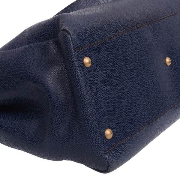 Peekaboo Navy GM Tote Bag