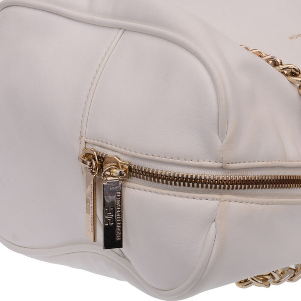 Snow White Leather Chained Bag