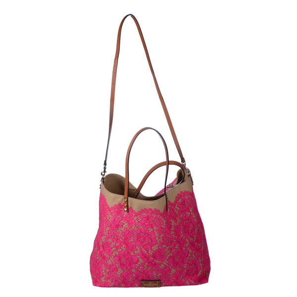 Pink Lace Reversible Glam Tote