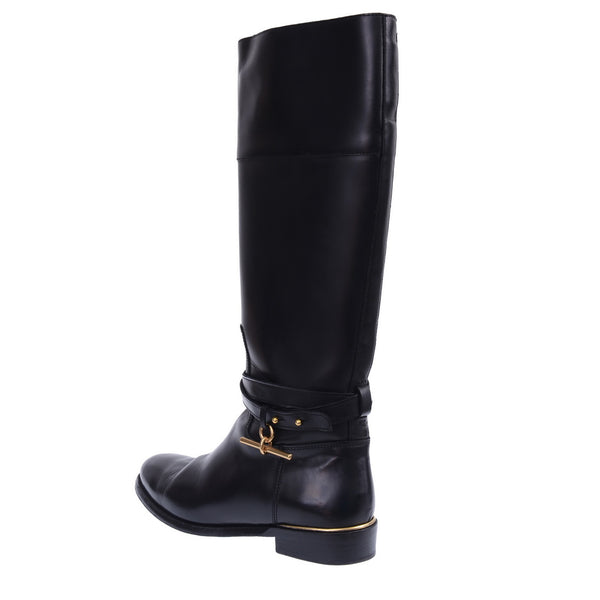 Black Rockyford Leather Knee High Boots