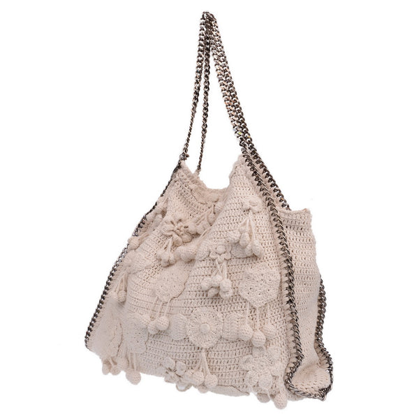 Natural Falabella Crochet Tote