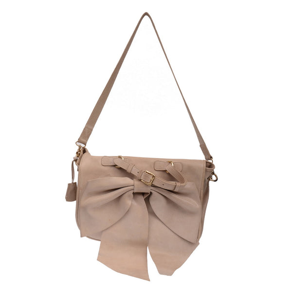 Laminated Gold Bow Tie Bag