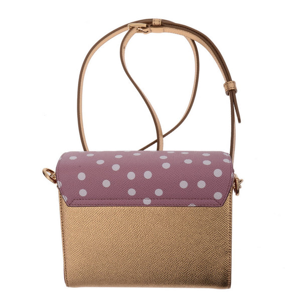 Millennials Mini Polka Dot Shimmering Leather Crossbody