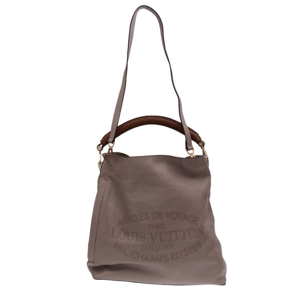 Grey Leather 101 Champs Elysee Tote