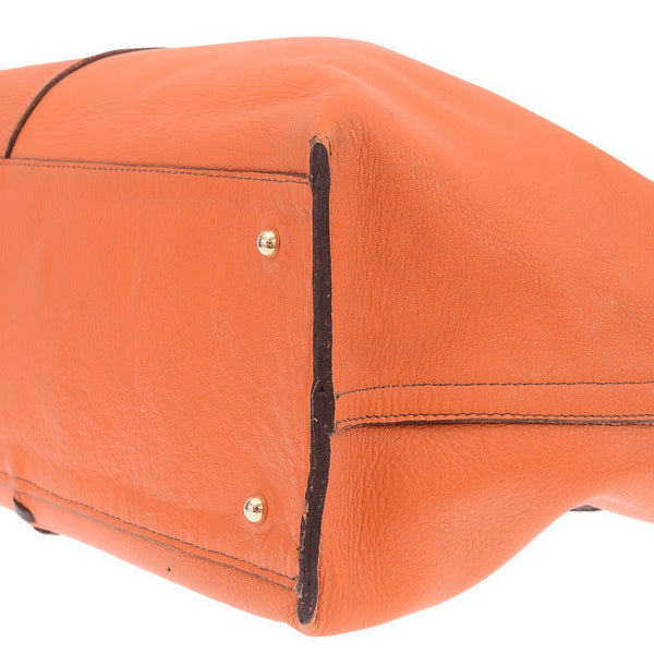 Neo Sac Reversible Orange/ Brown Shoulder Bag