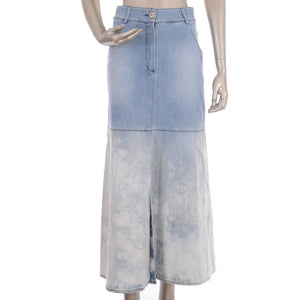 Denim long light skirt