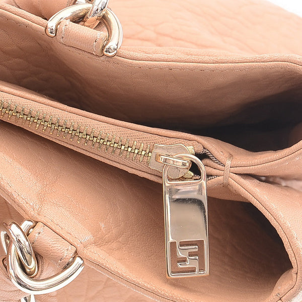 Beige Mia Borsa Grande Shoulder Bag