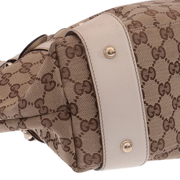 Pelham Monogram Braided Handles In Bone Tote