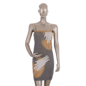 Silver Short Sleeveless With Gold Shimmer Dress