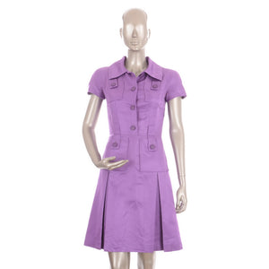 Lavender Purple Silk Dress