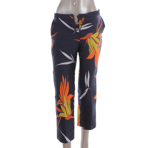 Floral Navy Pants