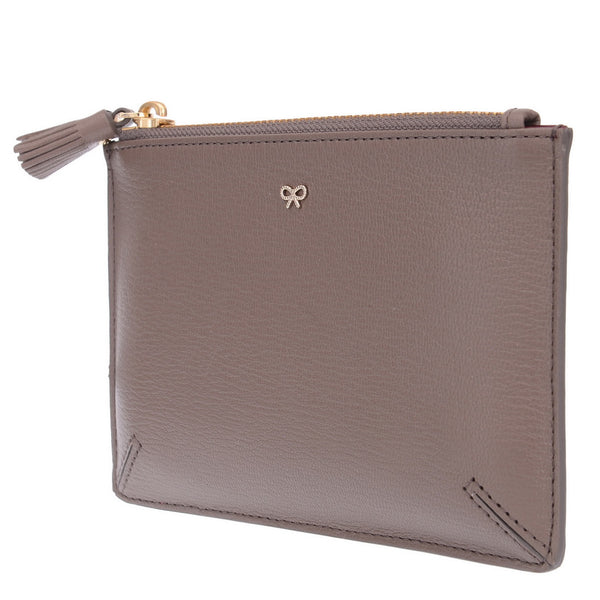 Chocolate Brown Zipped Pouch